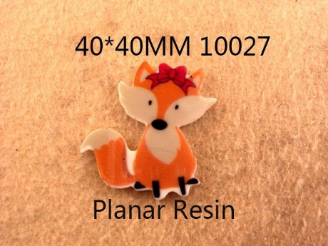 5 x 40mm FOX LASER CUT FLAT BACK RESIN HEADBANDS HAIR BOWS CARD MAKING PLAQUES